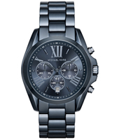 MK6248 Bradshaw 43mm Blue ladies chronograph with date