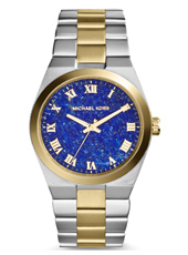 Channing 38mm Bicolor Ladies Watch with Blue Dial