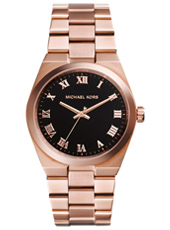 Channing 38mm Rose Gold & Black lady watch