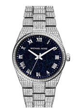 Channing 38mm Silver Ladies Watch covered with Crystals