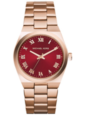 Channing 38mm Rose Gold & Burgundy Ladies Watch