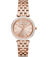 Darci Mini 33mm Rose Gold Ladies Watch with Crystals