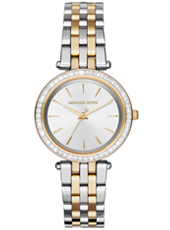 MK3405 Darci Mini 33mm Two-tone ladies watch with crystals