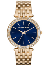 Darci Navy 39mm Gold & navy blue ladies watch with crystals
