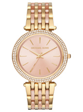 Darci 39mm Rose Gold Ladies Watch with Crystals