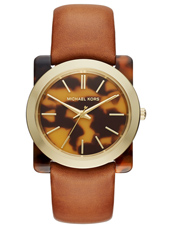 Kempton 39mm Ladies Watch with Tortoise Resin Case