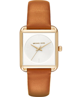 MK2584 Lake 32mm Gold ladies watch with brown strap