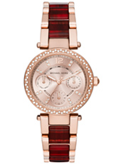 Parker Mini Merlot 33mm Rosegold ladies watch with red wine coloured bracelet