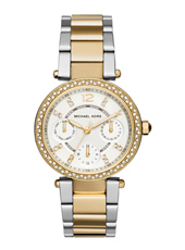 Parker Mini 33mm Two tone multifunction watch with crystals