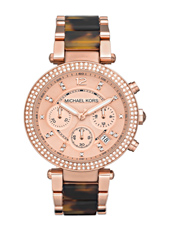 Parker 39mm Rose Gold & Tortoise Chrono Watch