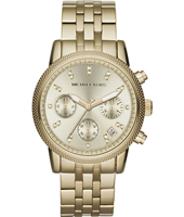 Ritz 37mm Gold ladies chronograph with Date