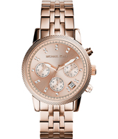 Ritz 37mm Rose gold ladies chronograph with Date
