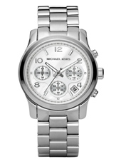 Runway 38mm Silver Chrono Watch