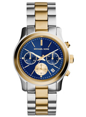Runway Mid 38mm Bicolor Chronograph with Blue Dial
