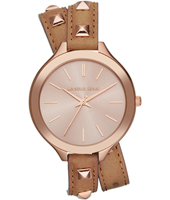 Runway Slim Rose Gold Double Twist Watch