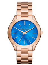 Runway Mid ll 42mm Thin Rose Gold watch with Ocean Blue Dial