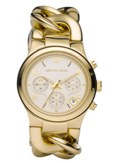 Runway Twist Gold ladies chronograph with Date