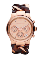 Runway Twist 38mm Rose Gold & Tortoise Chrono Watch
