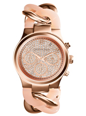 Runway Twist 38mm Rose Gold Lady Chrono Watch