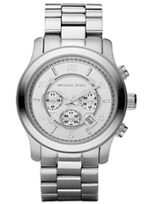 Runway Big Silver Chrono Watch