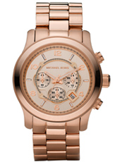 Runway Big 45mm Rose Gold Chrono Watch