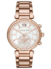 Sawyer 39mm Rose gold ladies chronograph with Big Date