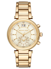 Sawyer Gold ladies chronograph with Date