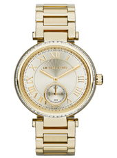 Skylar Gold Ladies Watch with Small Second