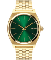 Time Teller 37mm Gold & Green Quartz Watch