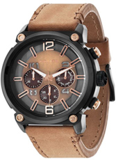 Armor 50mm Large black & brown chrono with screws