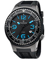Large Slim  48mm Mergulho Preto-Azul-Preto