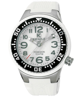 Medium  44mm White-Black-Mother of pearl-White Diver