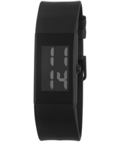 43107 Watch ll  23mm Rectangular Black Digital Watch, Rubber Strap