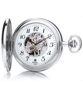 Silver 51mm Mechanical Hunter Case Pocket Watch