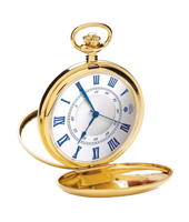 Gold 53mm Quartz Double Hunter Case Pocket Watch