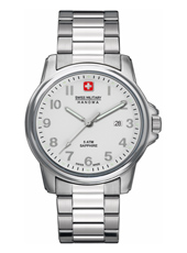 Swiss Soldier 39mm Steel Watch with Sapphire Crystal