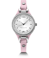 Virginia Ladies Watch with Pink Cuff Strap