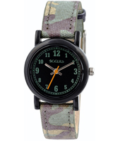Camouflage Black kids watch with camouflage strap