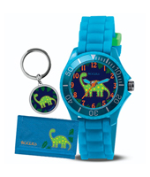 Dino Blue kids watch with a blue rubber strap