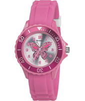 Pink Butterfly Pink Girl's Watch, Butterfly Print