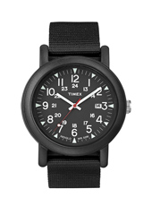 Camper  40mm Sporty Black Watch on Black Nylon Strap