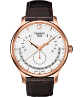 Tradition 42mm Perpetual Calendar Watch; Rose Gold, White & Black