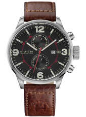 Brady  46mm Steel, Black & Brown Gent with Date & 24-Hour Dial