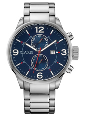 Brady 46mm Steel & Blue Gents Watch with date & 24-hour Dial