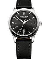 Alliance 40mm Black Swiss Made Gents Watch with Date